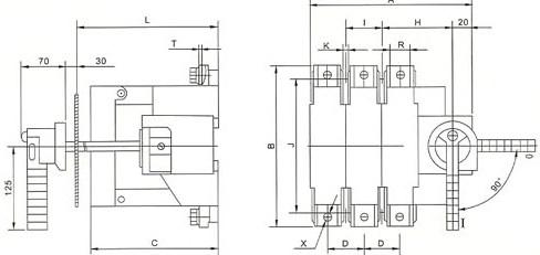 当开关用于电动机电路时,允许熔断器额定电流大于开关的约定发热电流.