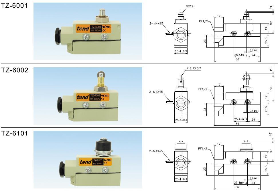 断火限位器工作原理_TZ-6000系列限位开关价格-技术参数-工作原理-外形尺寸及接线图 ...